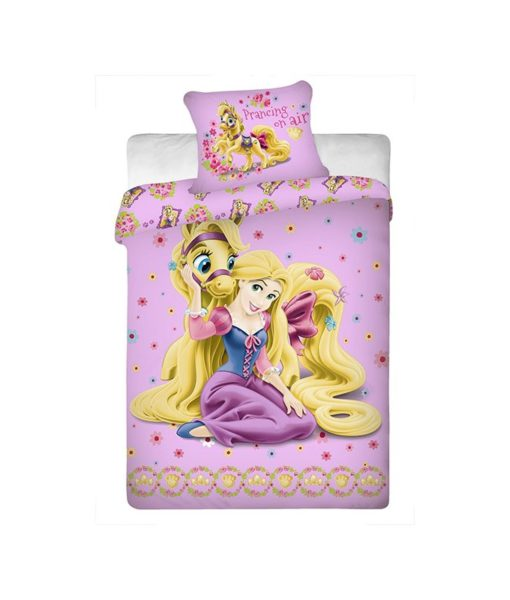 """Parure de lit 1 personne Princesses Disney """"Happy ending"""""""