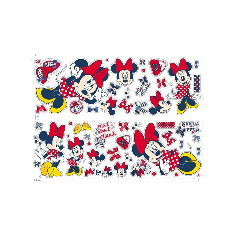 stickers muraux minnie mouse autocollants adh sifs pour d co chambre fille. Black Bedroom Furniture Sets. Home Design Ideas