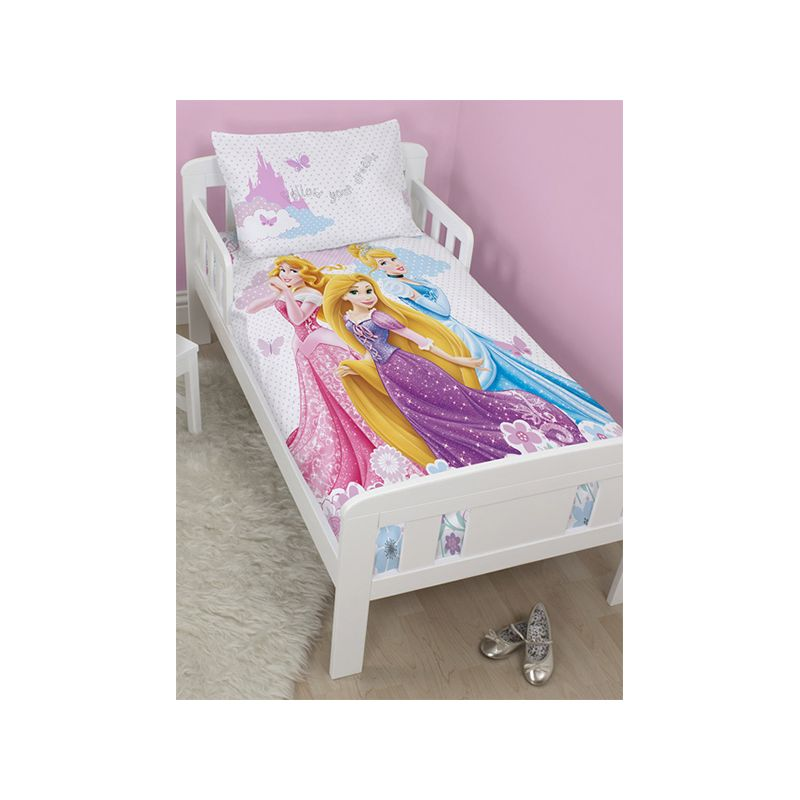 housse de couette junior princesse disney cendrillon 120x150 cm. Black Bedroom Furniture Sets. Home Design Ideas