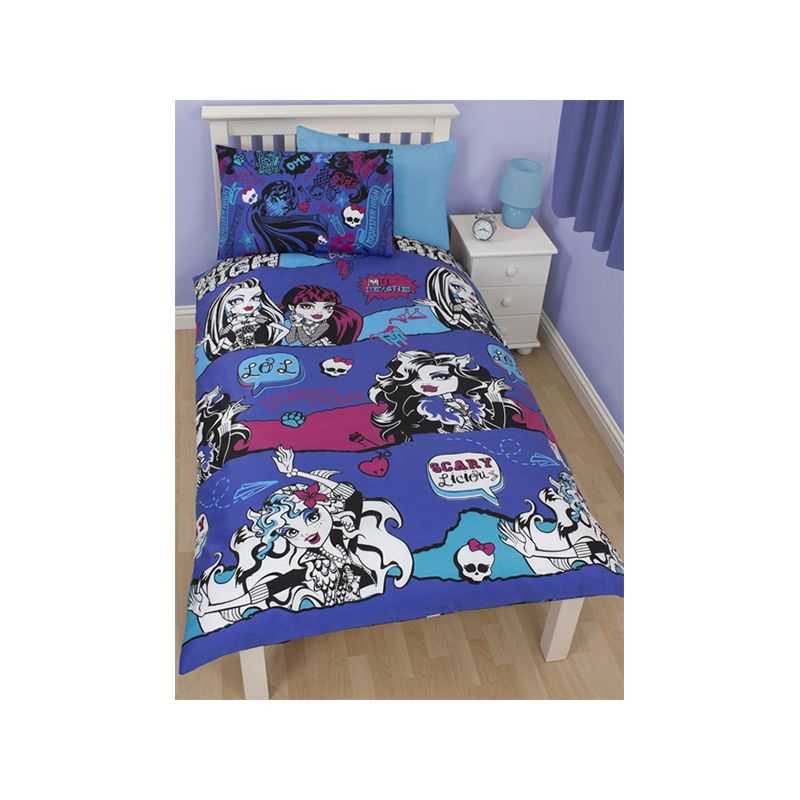 housse couette monster high beastie 140x200. Black Bedroom Furniture Sets. Home Design Ideas