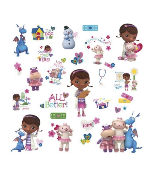 37 stickers muraux brillants Princesses Disney