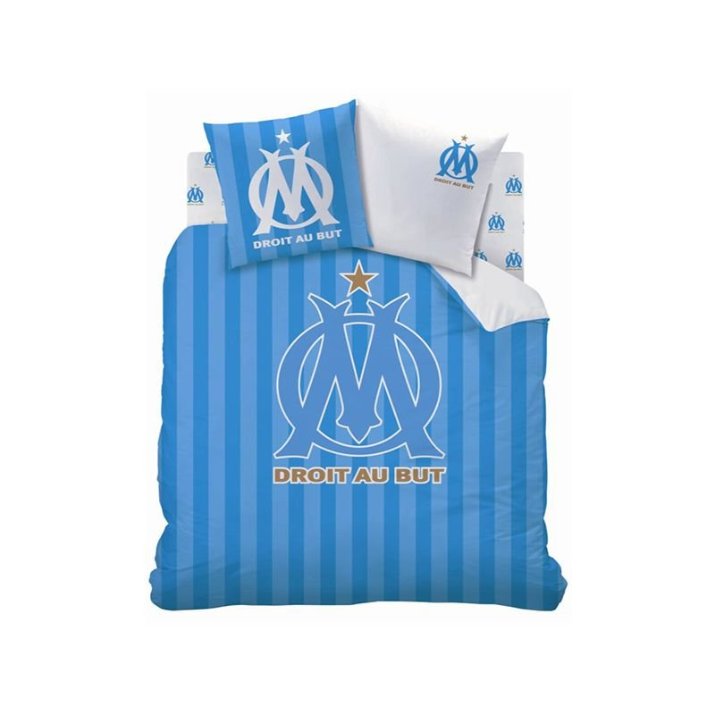 housse de couette olympique de marseille football 240x220. Black Bedroom Furniture Sets. Home Design Ideas