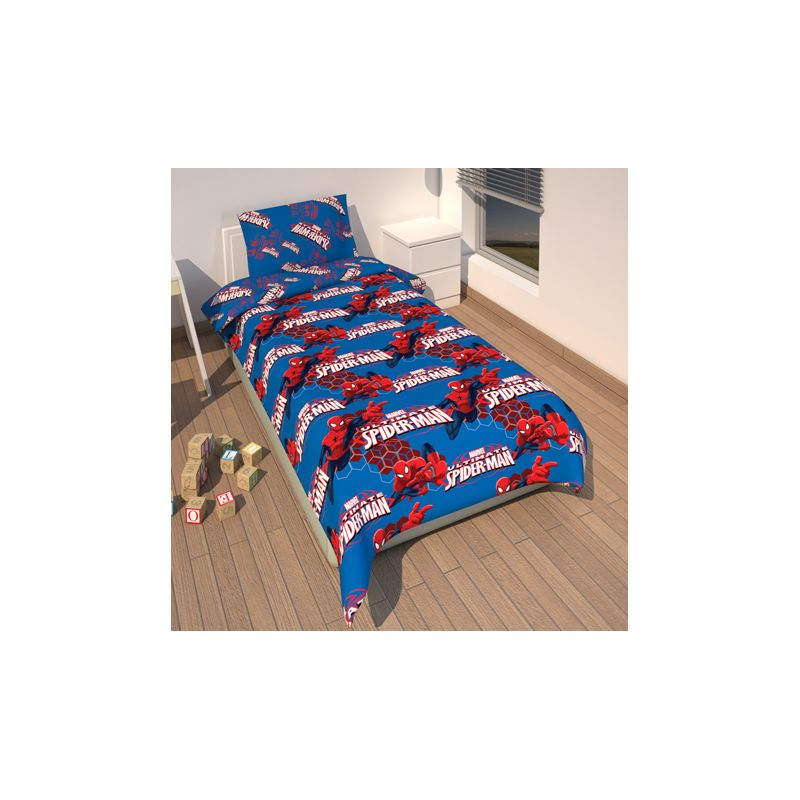 couette spiderman pour lit enfant 1 personne. Black Bedroom Furniture Sets. Home Design Ideas