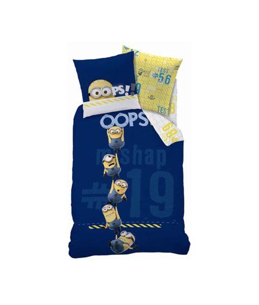 Parure de lit Minions OOps 140x200 cm - 100% coton