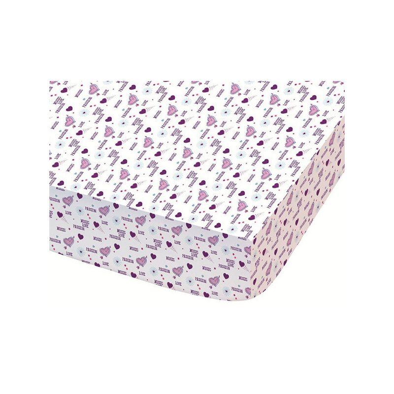 drap housse violetta 90x190 coton baila