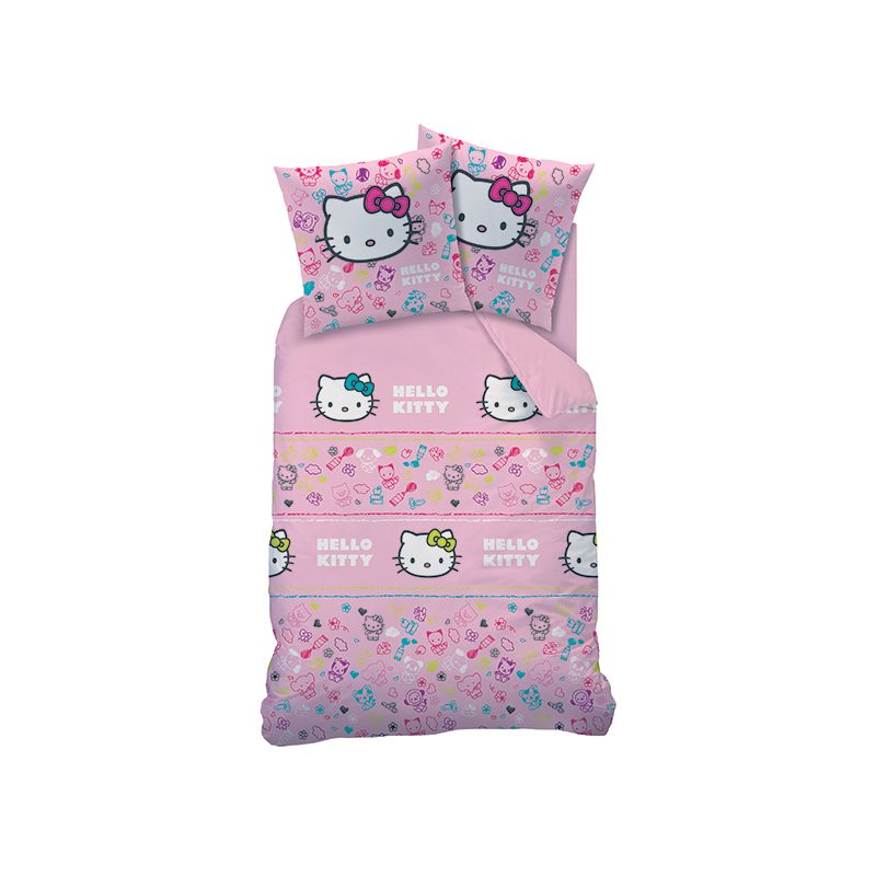 Hello kitty parure de lit simple graphiti polycoton for Parure lit 1 personne