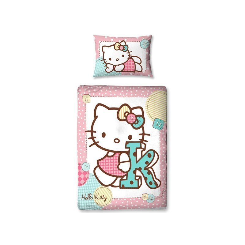 housse de couette hello kitty pour petit lit 120x150. Black Bedroom Furniture Sets. Home Design Ideas