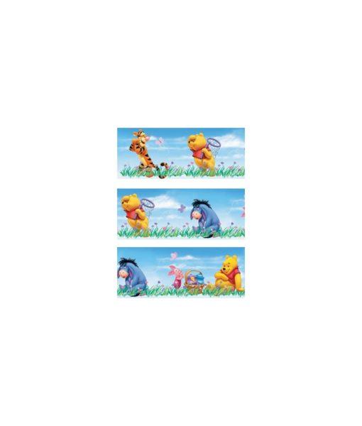 Winnie l'ourson - Frise murale adhésive et repositionnable