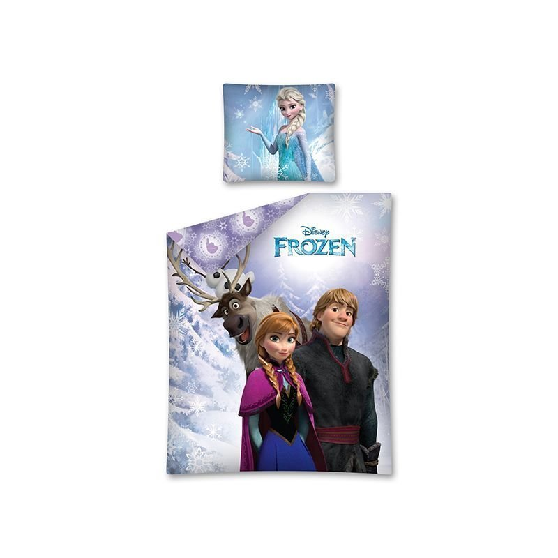 Parure de lit simple reine des neiges frozen disney for Housse de couette en pilou