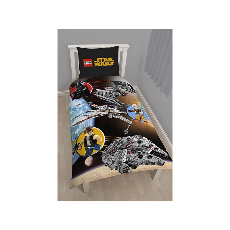 housse de couette lego star wars pour lit 1 personne. Black Bedroom Furniture Sets. Home Design Ideas
