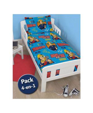 Pack literie Cars Couette + Oreiller + Parure de lit junior