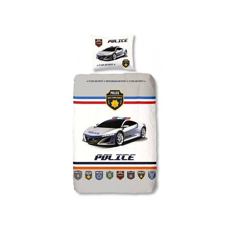 Parure de lit voiture de police pour enfant - Housse de couette voiture de course ...
