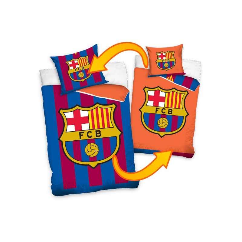 draps de lit barcelone football r versible blau grana et orange. Black Bedroom Furniture Sets. Home Design Ideas