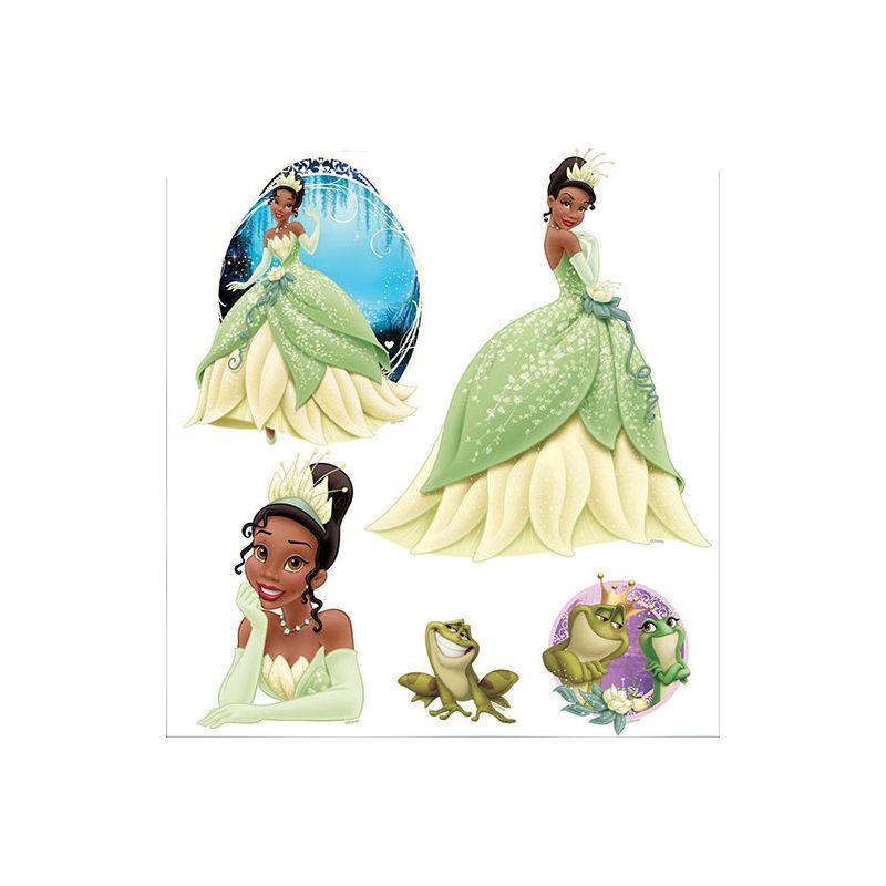 stickers muraux princesse et la grenouille tiana. Black Bedroom Furniture Sets. Home Design Ideas