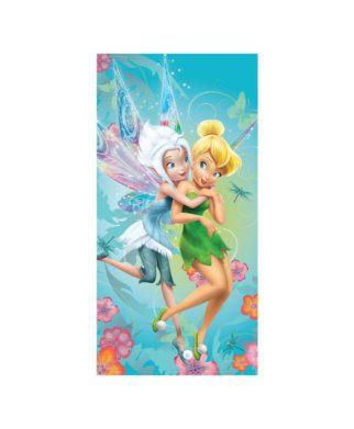 Drap de bain ou de plage Disney Fairies 75x150 cm