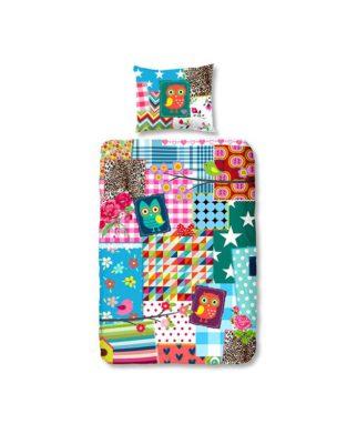 Housse de couette motifs floraux pour lit simple