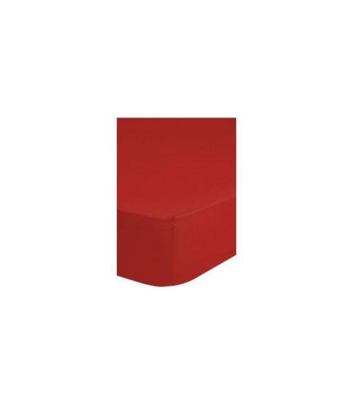 Drap-housse rouge 90x 200 - 100% coton