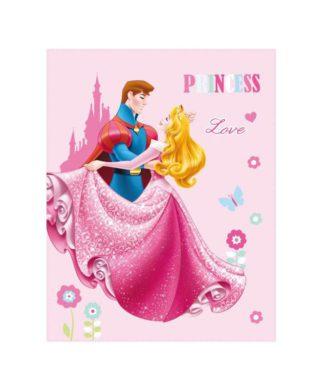 """Plaid Princesses Disney """"Dreaming Love"""" 110x140 cm"""