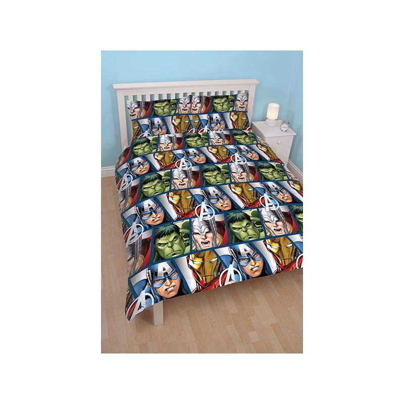 parure de lit avengers lit double enfant 200x200. Black Bedroom Furniture Sets. Home Design Ideas
