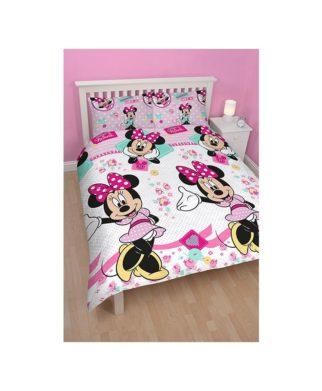 """Parure de lit double Minnie """"Handmade"""""""