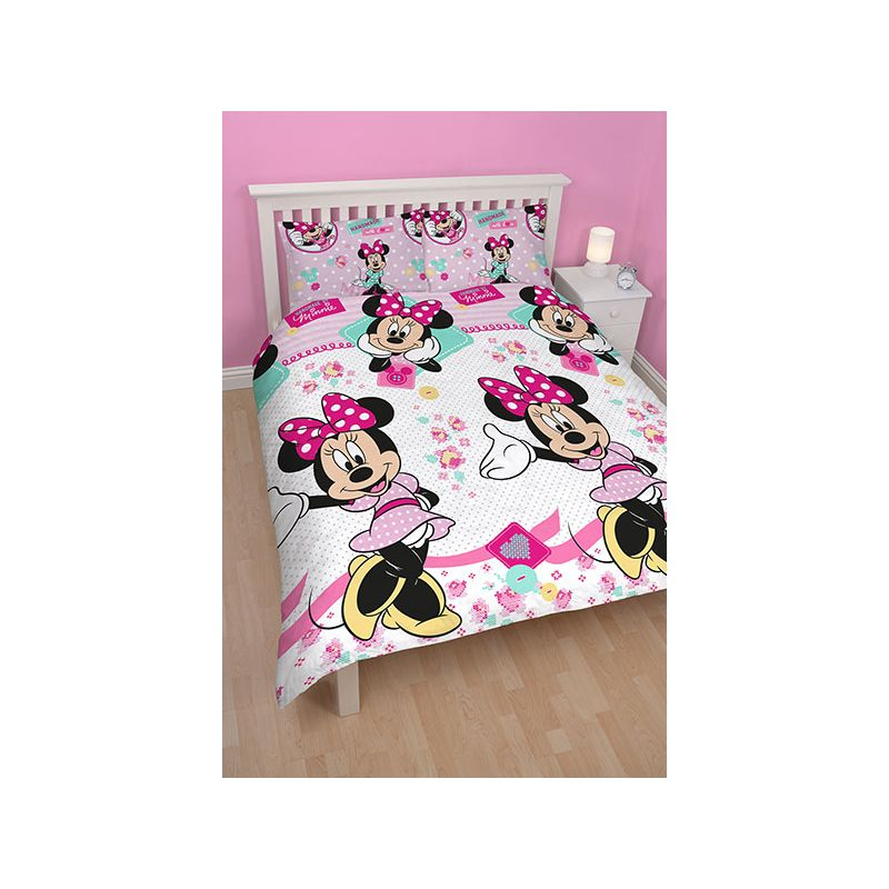 parure de lit double minnie handmade 200x200. Black Bedroom Furniture Sets. Home Design Ideas