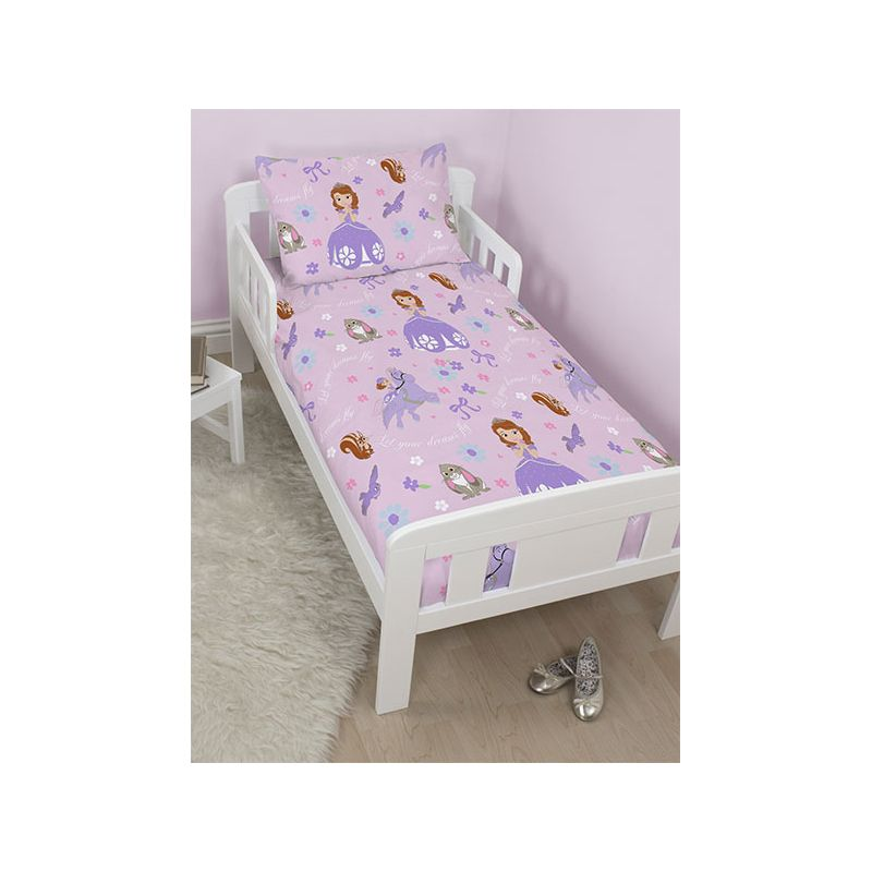 parure de lit junior princesse sofia 120x150. Black Bedroom Furniture Sets. Home Design Ideas