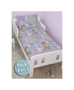 Pack Princesses Disney Couette + Oreiller + Parure de lit junior