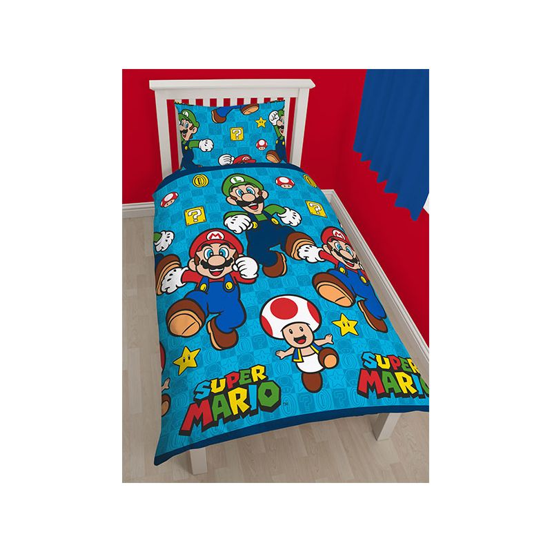 couette super mario pour lit enfant 1 personne. Black Bedroom Furniture Sets. Home Design Ideas