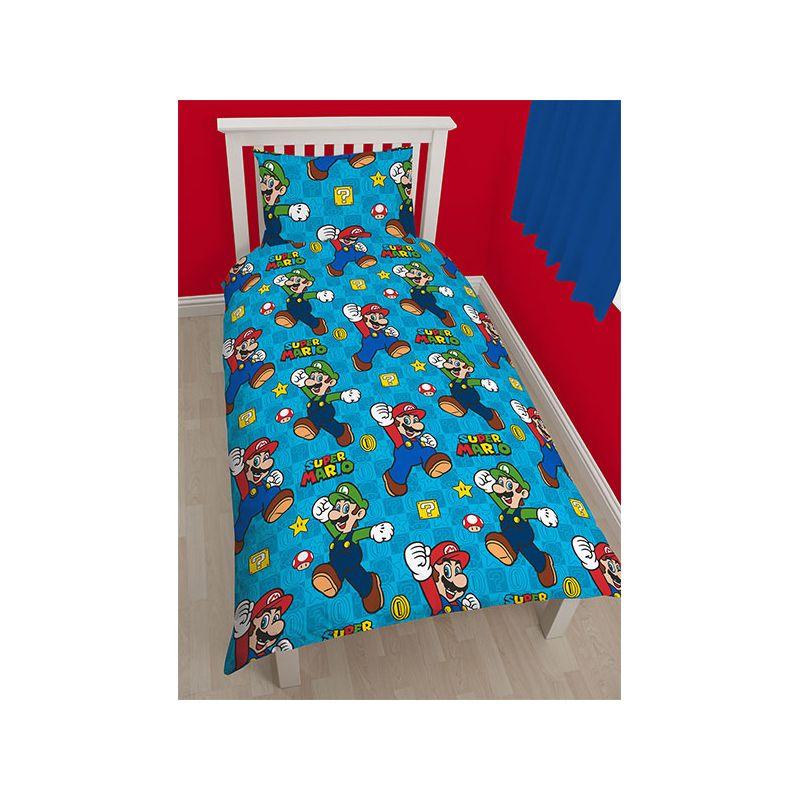 couette super mario pour lit enfant 1 personne. Black Bedroom Furniture Sets. Home Design Ideas