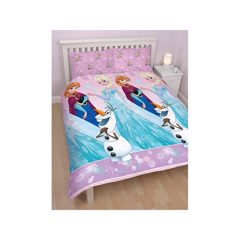 parure de lit double la reine des neiges elsa et anna 200x200. Black Bedroom Furniture Sets. Home Design Ideas