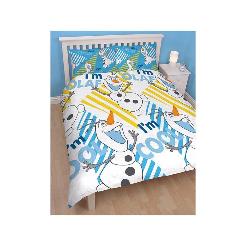housse de couette double olaf reine des neiges 2 personnes. Black Bedroom Furniture Sets. Home Design Ideas