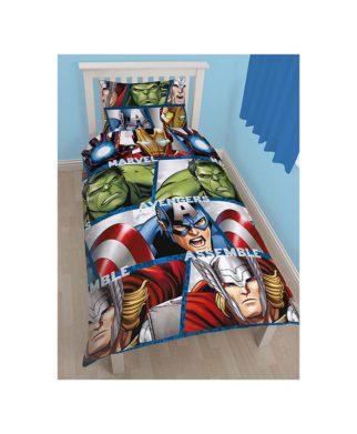 Parure de lit The Avengers - hulk, Ironman, Thor et Captain America