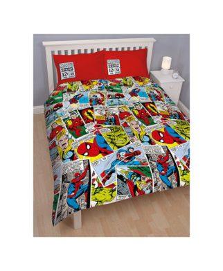 Avengers parure de lit housse de couette enfant d coration linge de maison for Parure lit double