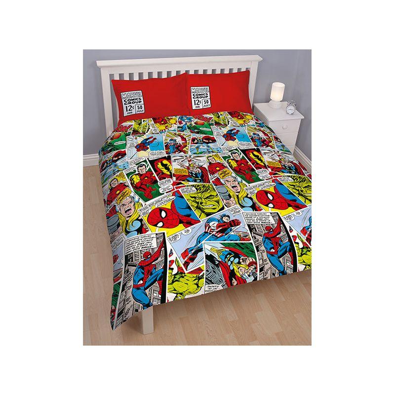 housse de couette marvel comics 200x200 lit double. Black Bedroom Furniture Sets. Home Design Ideas