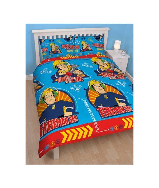 Parure de lit double Sam le pompier Brave 200x200cm