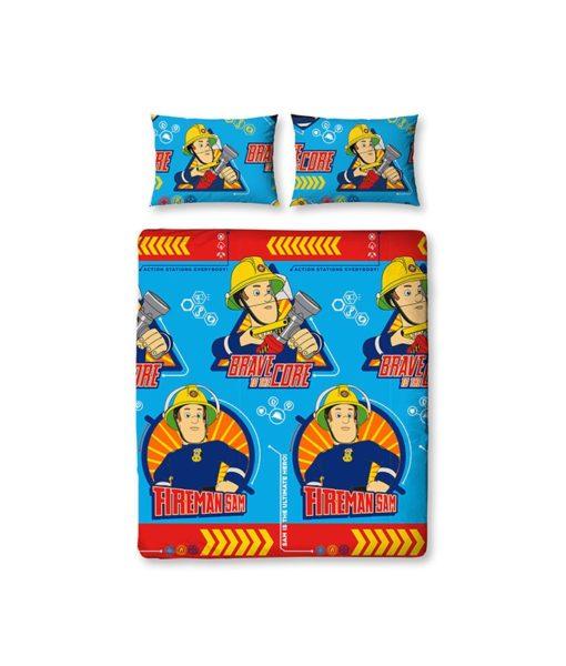 linge de lit double Sam le pompier Brave 200x200cm