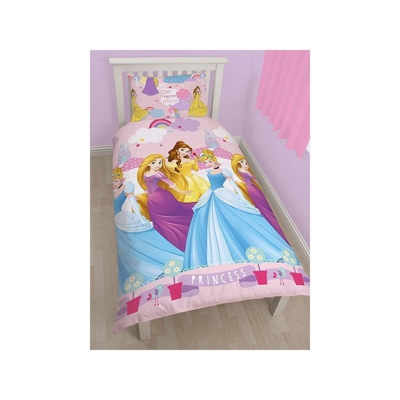 linge de lit princesse disney pour 1 personne. Black Bedroom Furniture Sets. Home Design Ideas