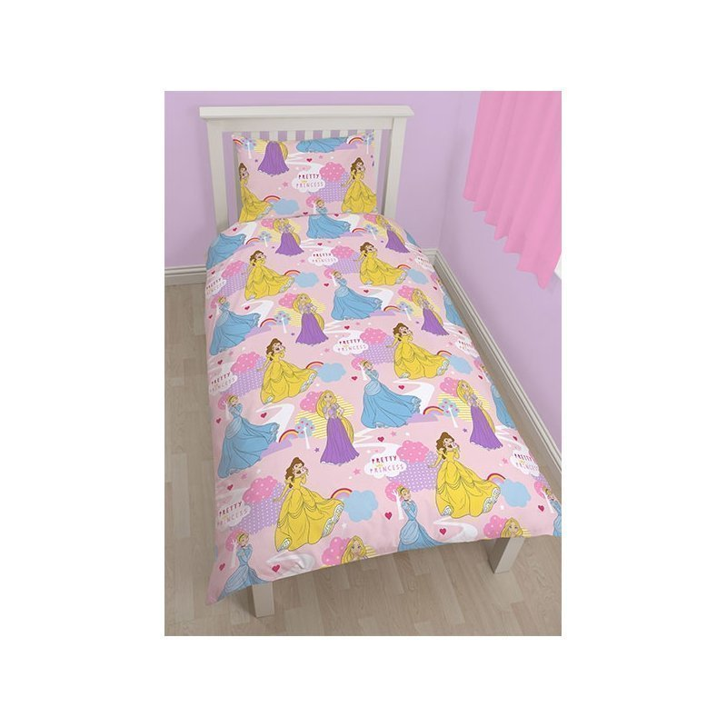 linge de lit princesse disney pour 1 personne. Black Bedroom Furniture Sets. Home Design Ideas