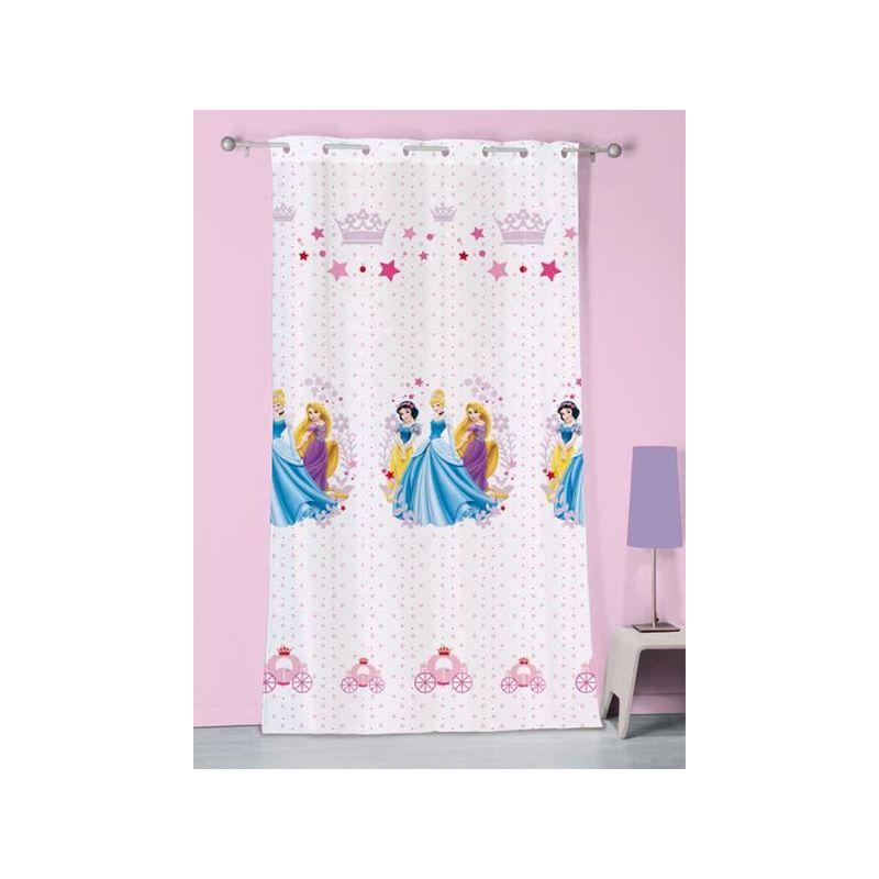 voilage disney princesses diademen pour fenêtre 140x240