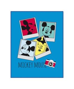 "Couverture polaire Mickey Mouse ""Photomaton"""