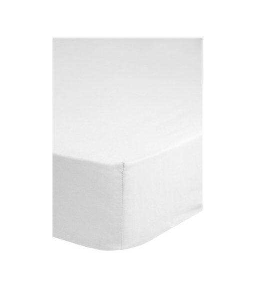 Drap-housse blanc 140x 200 - 100% coton