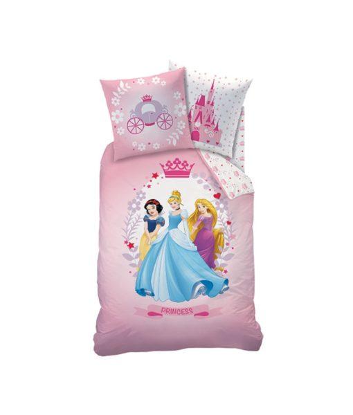 Parure de lit Princesses Disney Diadème en flanelle