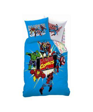 Parure de lit Avengers Marvel Comics Blue 140x200 cm