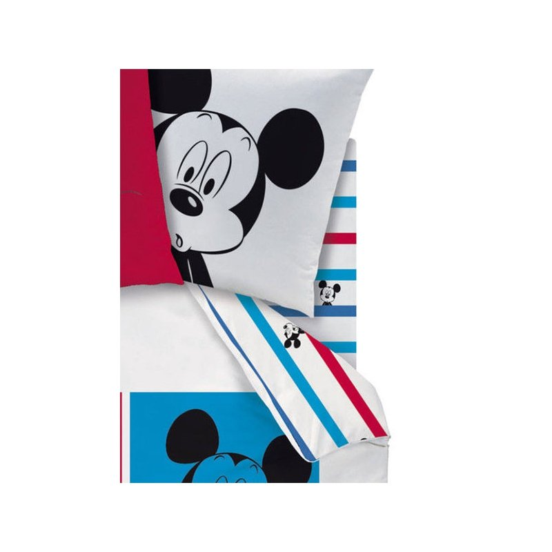 drap housse mickey mouse photomaton pour matelas 90x190. Black Bedroom Furniture Sets. Home Design Ideas