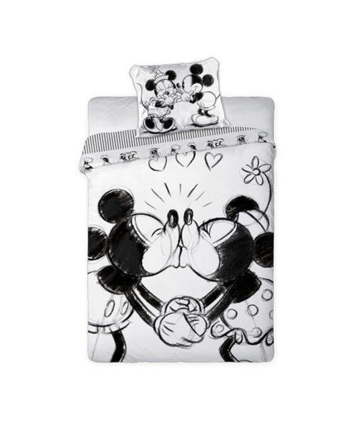 Parure de lit Mickey et Minnie Kissing 100% coton