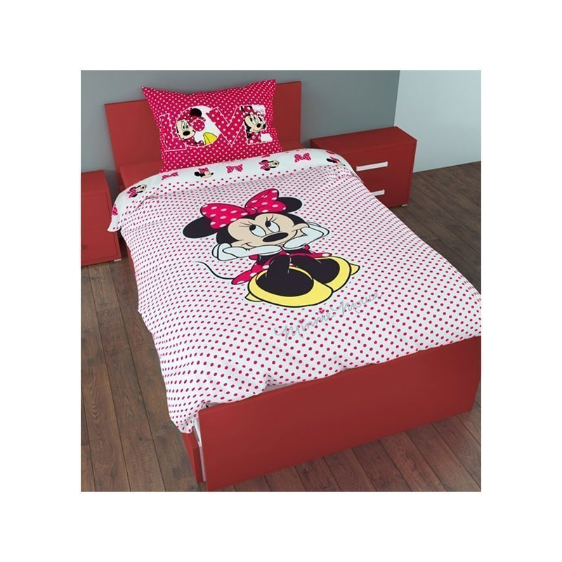 couette minnie pour fille lit 1 personne. Black Bedroom Furniture Sets. Home Design Ideas