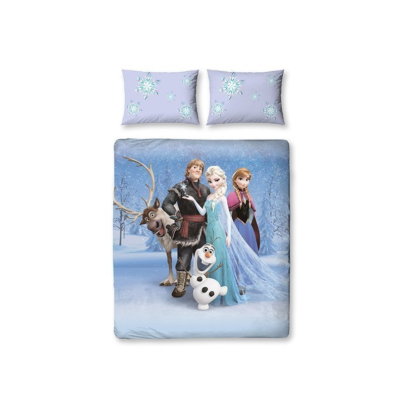 housse de couette double reine des neiges frozen. Black Bedroom Furniture Sets. Home Design Ideas
