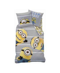 minions parure de lit housse de couette enfant rideaux d coration linge de maison. Black Bedroom Furniture Sets. Home Design Ideas