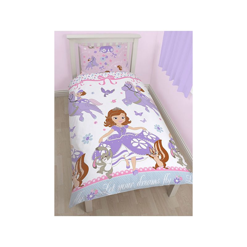 linge de lit princesse sofia disney pour enfant. Black Bedroom Furniture Sets. Home Design Ideas