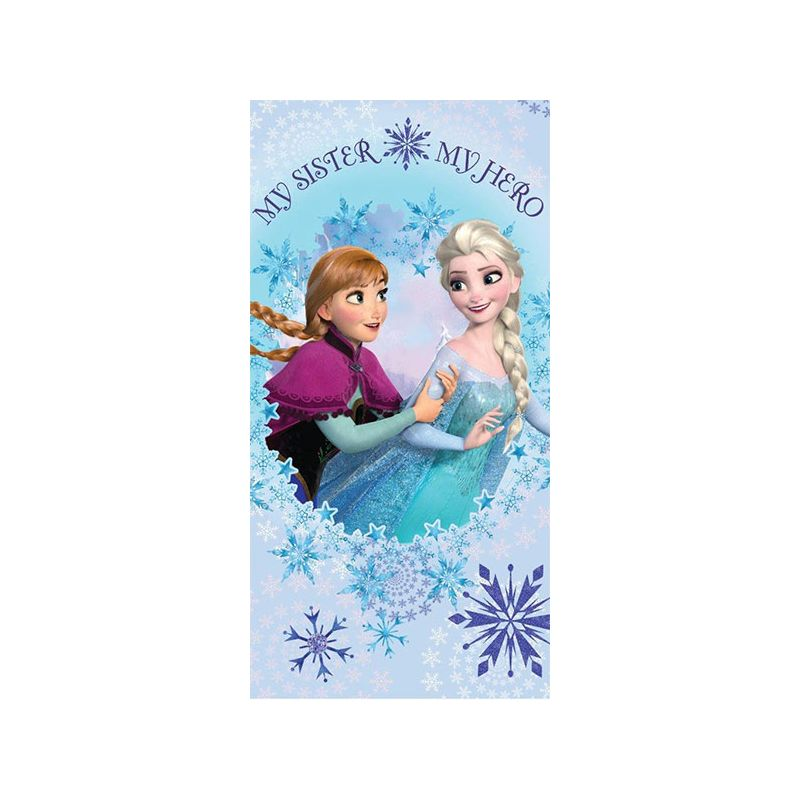 drap bain reine des neiges elsa et anna pour enfant. Black Bedroom Furniture Sets. Home Design Ideas
